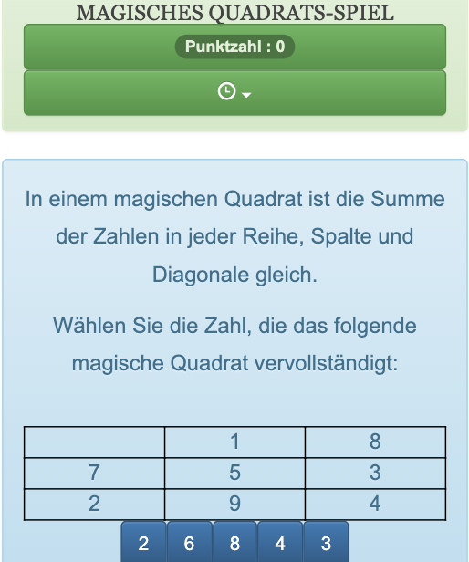 magische quadrate lösen