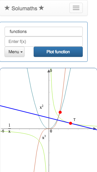 Online graphing calculator, solumaths