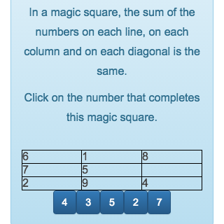 The goal of the game is to complete a magic square that has empty areas.