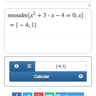 Resolver ecuación en línea - Solumaths