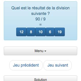 Dans ce cas, la calculatrice permet aux divisions des divisions d'entrer dans la division des divisions exactes entre Deux nombres entiers.