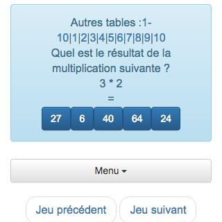 S lection des meilleurs jeux de maths gratuits ce2 cm1 - Jeu en ligne table de multiplication ...